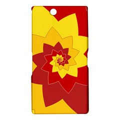 Flower Blossom Spiral Design  Red Yellow Sony Xperia Z Ultra