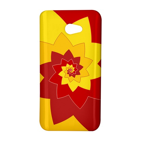 Flower Blossom Spiral Design  Red Yellow HTC Butterfly S/HTC 9060 Hardshell Case