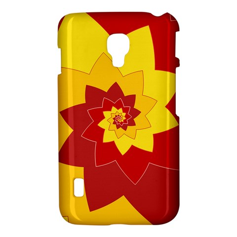 Flower Blossom Spiral Design  Red Yellow LG Optimus L7 II