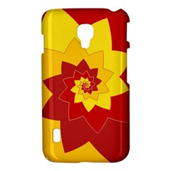Flower Blossom Spiral Design  Red Yellow LG Optimus L7 II
