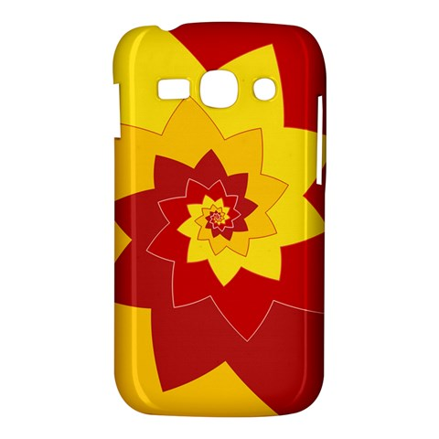 Flower Blossom Spiral Design  Red Yellow Samsung Galaxy Ace 3 S7272 Hardshell Case
