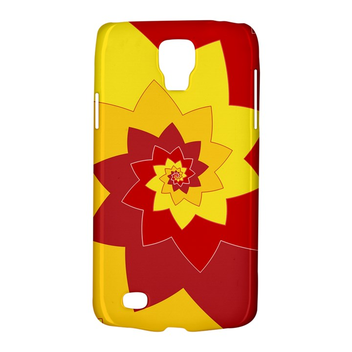 Flower Blossom Spiral Design  Red Yellow Galaxy S4 Active