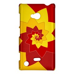 Flower Blossom Spiral Design  Red Yellow Nokia Lumia 720