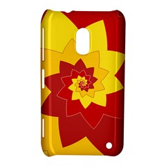 Flower Blossom Spiral Design  Red Yellow Nokia Lumia 620