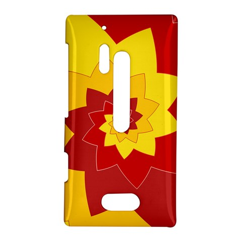 Flower Blossom Spiral Design  Red Yellow Nokia Lumia 928