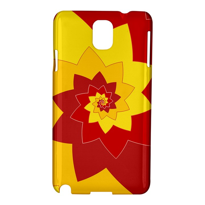 Flower Blossom Spiral Design  Red Yellow Samsung Galaxy Note 3 N9005 Hardshell Case