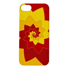 Flower Blossom Spiral Design  Red Yellow Apple iPhone 5S/ SE Hardshell Case