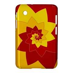 Flower Blossom Spiral Design  Red Yellow Samsung Galaxy Tab 2 (7 ) P3100 Hardshell Case