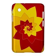 Flower Blossom Spiral Design  Red Yellow Samsung Galaxy Tab 2 (7 ) P3100 Hardshell Case