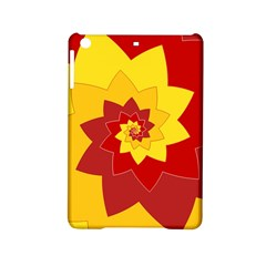 Flower Blossom Spiral Design  Red Yellow iPad Mini 2 Hardshell Cases