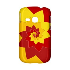 Flower Blossom Spiral Design  Red Yellow Samsung Galaxy S6310 Hardshell Case