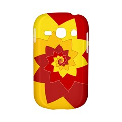 Flower Blossom Spiral Design  Red Yellow Samsung Galaxy S6810 Hardshell Case