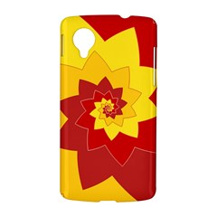 Flower Blossom Spiral Design  Red Yellow LG Nexus 5