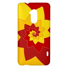 Flower Blossom Spiral Design  Red Yellow HTC One Max (T6) Hardshell Case