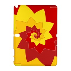 Flower Blossom Spiral Design  Red Yellow Samsung Galaxy Note 10 1 (p600) Hardshell Case