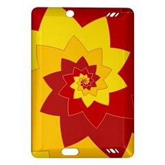 Flower Blossom Spiral Design  Red Yellow Amazon Kindle Fire HD (2013) Hardshell Case