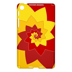 Flower Blossom Spiral Design  Red Yellow Nexus 7 (2013)