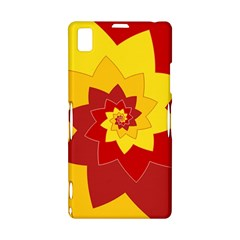 Flower Blossom Spiral Design  Red Yellow Sony Xperia Z1