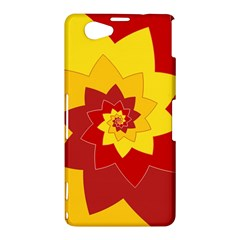 Flower Blossom Spiral Design  Red Yellow Sony Xperia Z1 Compact