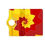 Flower Blossom Spiral Design  Red Yellow Kindle Fire HD (2013) Flip 360 Case Front