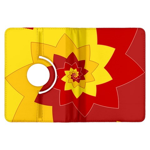 Flower Blossom Spiral Design  Red Yellow Kindle Fire HDX Flip 360 Case