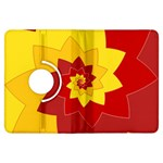 Flower Blossom Spiral Design  Red Yellow Kindle Fire HDX Flip 360 Case Front