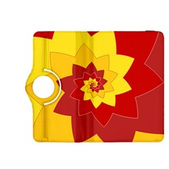 Flower Blossom Spiral Design  Red Yellow Kindle Fire HDX 8.9  Flip 360 Case
