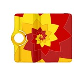 Flower Blossom Spiral Design  Red Yellow Kindle Fire HDX 8.9  Flip 360 Case Front