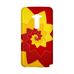 Flower Blossom Spiral Design  Red Yellow LG G Flex