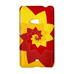 Flower Blossom Spiral Design  Red Yellow Nokia Lumia 625