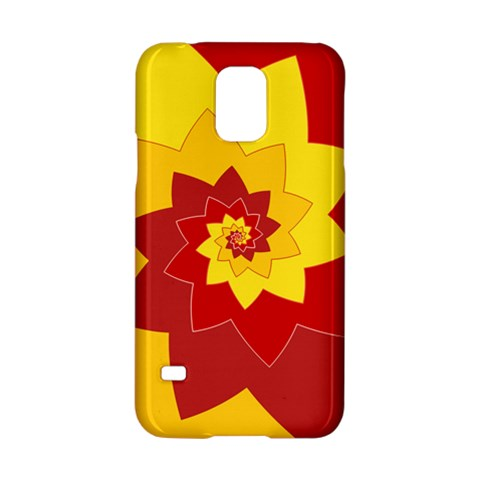 Flower Blossom Spiral Design  Red Yellow Samsung Galaxy S5 Hardshell Case
