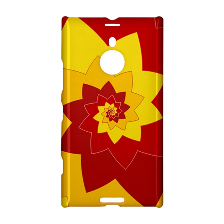 Flower Blossom Spiral Design  Red Yellow Nokia Lumia 1520