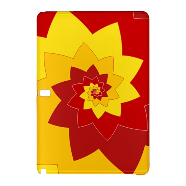 Flower Blossom Spiral Design  Red Yellow Samsung Galaxy Tab Pro 10.1 Hardshell Case