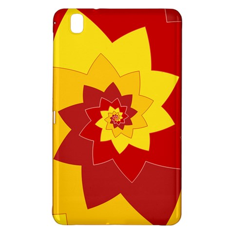 Flower Blossom Spiral Design  Red Yellow Samsung Galaxy Tab Pro 8.4 Hardshell Case
