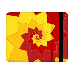 Flower Blossom Spiral Design  Red Yellow Samsung Galaxy Tab Pro 8 4  Flip Case