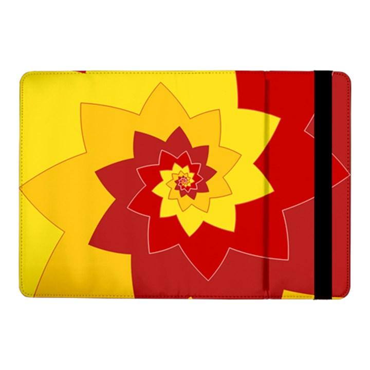 Flower Blossom Spiral Design  Red Yellow Samsung Galaxy Tab Pro 10.1  Flip Case