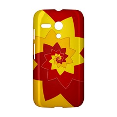 Flower Blossom Spiral Design  Red Yellow Motorola Moto G