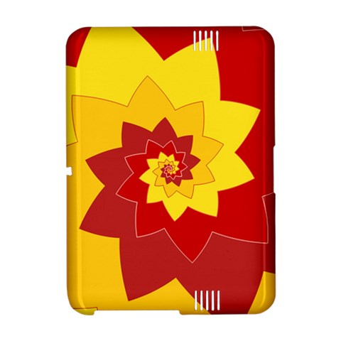 Flower Blossom Spiral Design  Red Yellow Amazon Kindle Fire (2012) Hardshell Case
