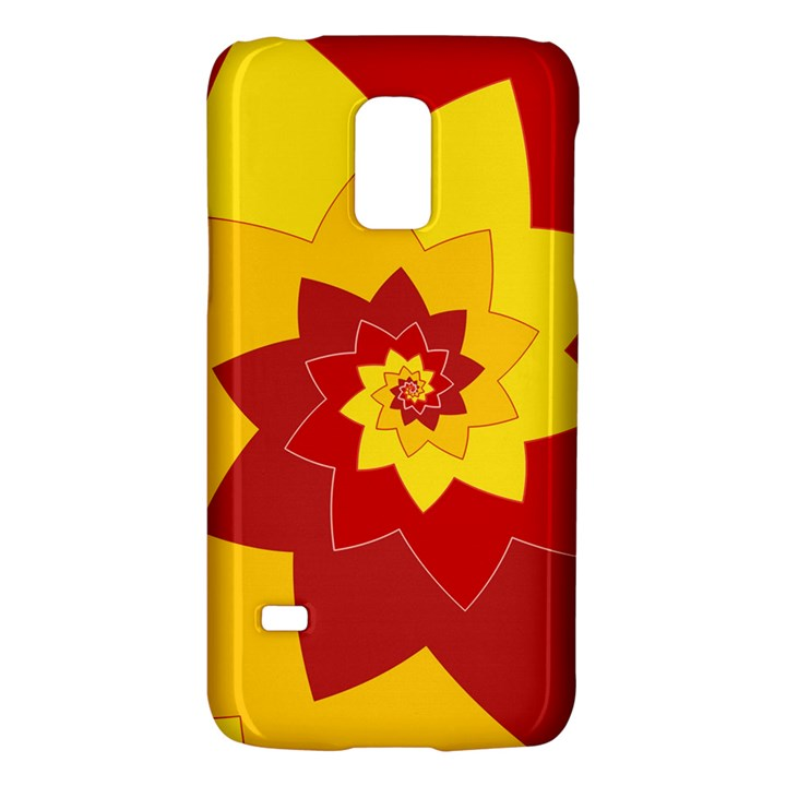 Flower Blossom Spiral Design  Red Yellow Galaxy S5 Mini