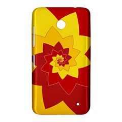 Flower Blossom Spiral Design  Red Yellow Nokia Lumia 630