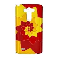 Flower Blossom Spiral Design  Red Yellow LG G3 Hardshell Case