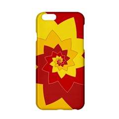 Flower Blossom Spiral Design  Red Yellow Apple iPhone 6/6S Hardshell Case