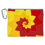 Flower Blossom Spiral Design  Red Yellow Canvas Cosmetic Bag (XXL) Front