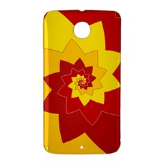 Flower Blossom Spiral Design  Red Yellow Nexus 6 Case (White)