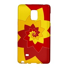 Flower Blossom Spiral Design  Red Yellow Galaxy Note Edge
