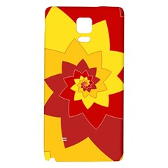 Flower Blossom Spiral Design  Red Yellow Galaxy Note 4 Back Case