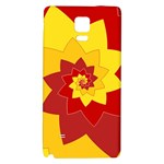 Flower Blossom Spiral Design  Red Yellow Galaxy Note 4 Back Case Front