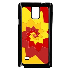 Flower Blossom Spiral Design  Red Yellow Samsung Galaxy Note 4 Case (black)