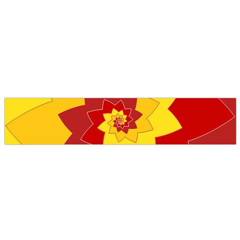 Flower Blossom Spiral Design  Red Yellow Flano Scarf (Small)