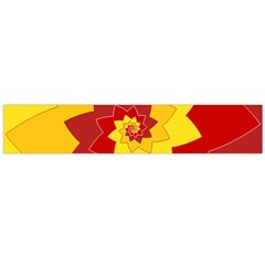Flower Blossom Spiral Design  Red Yellow Flano Scarf (large)